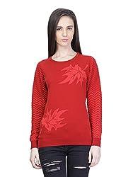 Kalt Women's Cotton Sweater(W126 6XL_Red_XXXXXX-Large)