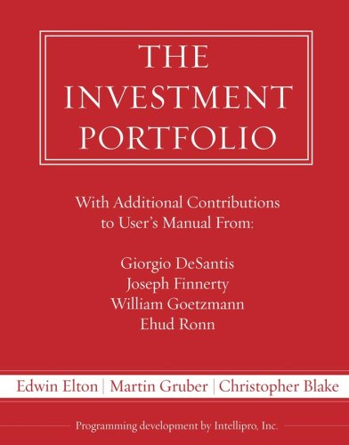 The Investment Portfolio Users Manual and Software