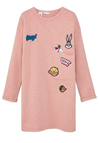mango-kids-robe-looney-robe-tunes-taille7-8-ans-couleurrose-clair