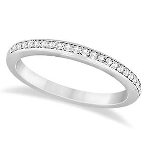 Allurez Half-Eternity Diamond Pave Wedding Band Palladium (0.18ct) - P