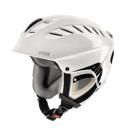 UVEX Skihelm X-Ride Motion Air, white/black mat, 57-60 cm, S56.6.123.1205