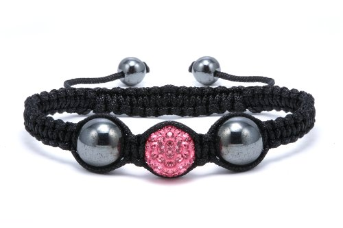 Authentic Pink Sapphire Color Crystals Shamballa Adjustable Bracelet, Now At Our Lowest Price Ever but Only for a Limited Time!