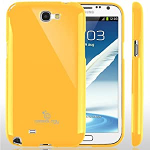 Caseology Slim Fit Flexible TPU Case Compatible with Samsung Galaxy Note 2 (Yellow)