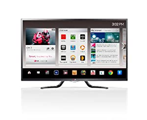 LG Electronics 50GA6400 50-Inch Cinema 3D 1080p 120Hz LED-LCD HDTV with Google TV and Four Pairs of 3D Glasses