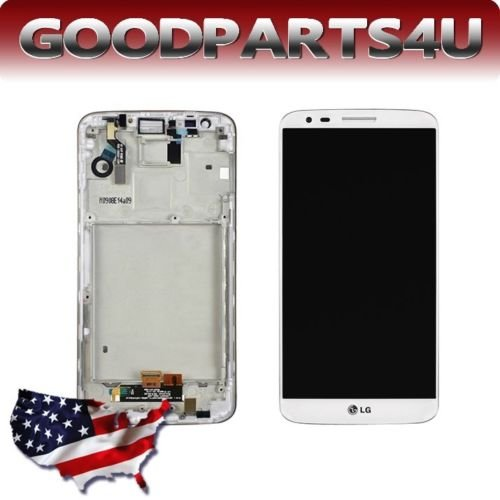 Lg Optimus G2 Sprint Ls980 White Lcd Screen+Touch Panel Digitizer Assembly +Frame/Middle Chassis
