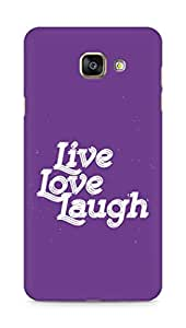 Amez Live Love Laugh Back Cover For Samsung Galaxy A7 2016