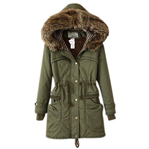 ipretty Winterjacke Damen Mantel verdickte Parka mit Kapuzen Damen Trenchcoat Outerwear
