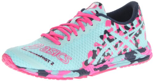 ASICS Women's GEL-Noosafast 2 Running Shoe,Glacier/Hot Pink/Navy,6.5 M US
