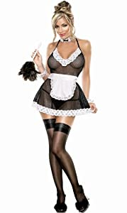ladies 3 piece sexy french chamber maid lingerie sexy