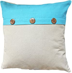 Throw Pillows With Buttons : Amazon.com - Decorative Coconut Buttons Throw Pillow Cover 18