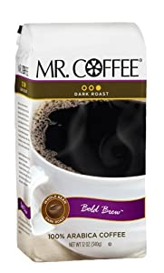 Mr. Coffee Bold Brew, Whole Bean Coffee 12-Ounce Bags (Pack of 6)