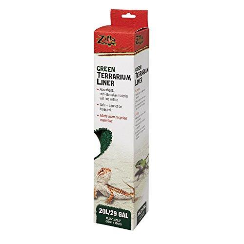 Zilla Reptile Terrarium Bedding Substrate Liner, Green, 20L/29G