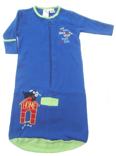 Bright Bots Baby Sleeping Bag in Soft Cotton Jersey - Blue size 3-6 months
