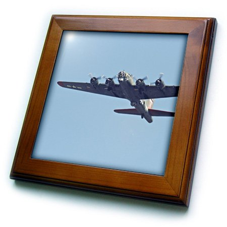 ft_97120_1 Danita Delimont - War Planes - B-17 G Flying Fortress, War plane - US50 BFR0041 - Bernard Friel - Framed Tiles - 8x8 Framed Tile