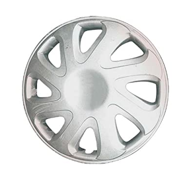 CCI IWC404-14S 14 Inch Clip On Silver Finish Hubcaps - Pack of 4