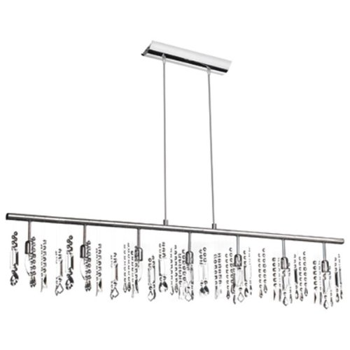 Dainolite 85304-PC-CRY 7-Light Crystal Chandelier, Polished Chrome