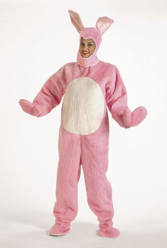 Child Easter Bunny Suit Pink Costume