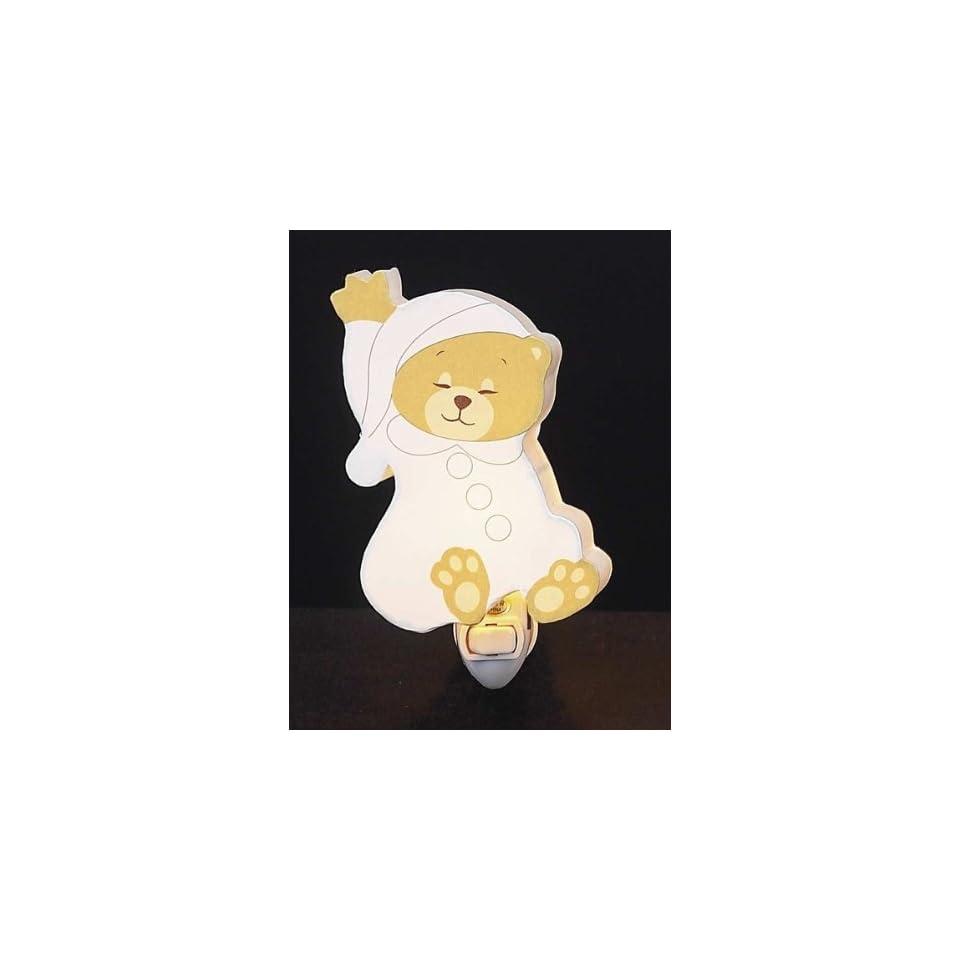 Childrens Quality Designed White Sleeping Bear Room Night Light