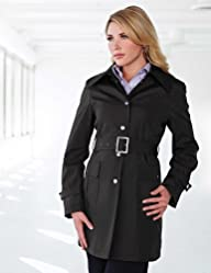 Tri-Mountain Womens 100% polyester Hooded Trench coat.