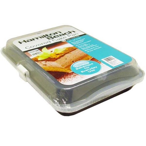 Hamilton Beach 13x9 Nonstick Covered Cake Pan (Square Cake Pan With Lid compare prices)