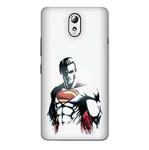 CrazyInk Premium 3D Back Cover for LENOVO VIBE P1M - Superman Strokes