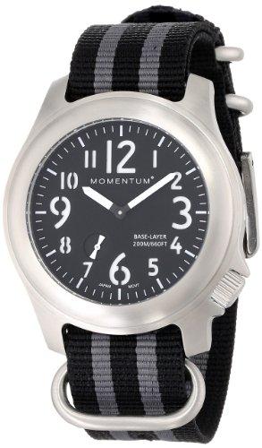 Momentum® 1M-SP76B7S - Reloj analógico de cuarzo para hombre, correa de nailon color gris