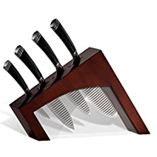 buy Casaware 5Pc Knife Block Set (All Purpose, Chef, Serrated Utility, Paring, Knife Block) (Espresso)