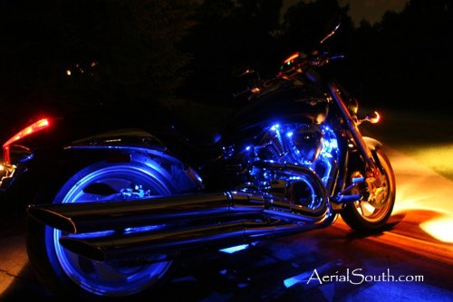 "96-LED ""Clip & Stick"" Motorcycle Accent Light Kit w/Multi-Function Remote Control-Color:RED"