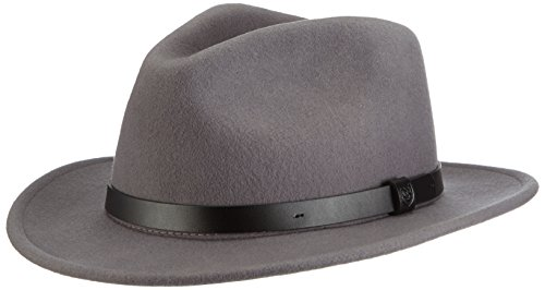 Brixton Men's Messer Fedora Hat, Light Grey, Medium