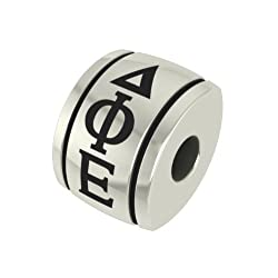 Delta Phi Epsilon Barrel Sorority Bead Fits Most Pandora Style Bracelets Including Pandora Chamilia Biagi Zable Troll and More. High Quality Bead in Stock for Immediate Shipping