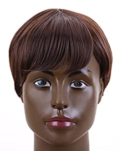 Fashion Men's Short Layered Wig (Model: Jf010471) (Dark Brown) from Cool2day
