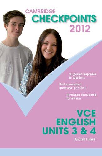 Cambridge Checkpoints VCE English Units 3 and 4 2012