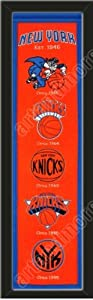 Heritage Banner Of New York Knicks-Framed Awesome & Beautiful-Must For A... by Art and More, Davenport, IA