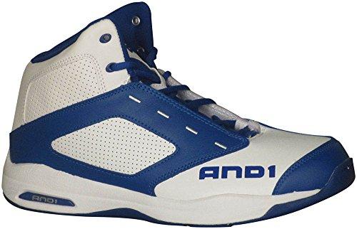 AND 1 Typhoon Men's Basketball 11 D(M) US White-Royal Blue-White
