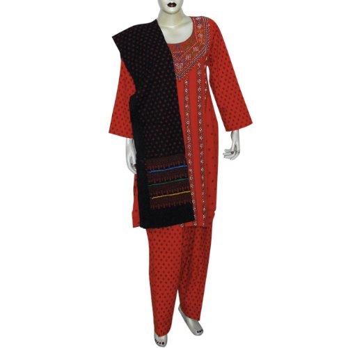 Salwar Kameez Kurti Cotton Embroidered Dress Size (S/36)