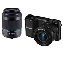 Samsung NX2000 20.3MP CMOS Smart WiFi Compact Interchangeable Lens Digital Camera with 20-50mm and 50-200mm Zoom Lens Bundle (Black)