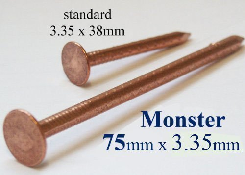 Copper Tree Stump Killer - 40xV.Large 75mm Copper Nails