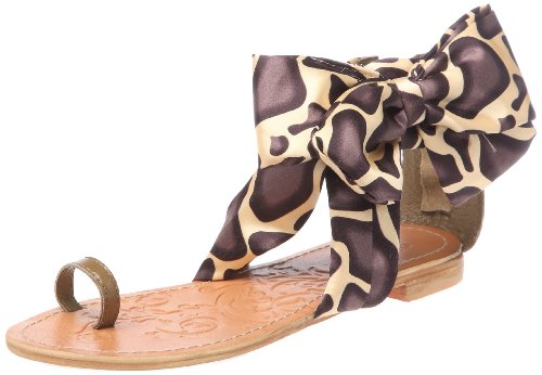 Colors of California, Sandalo con tomaia in foulard, Scarpe basse, Donna, Beige (TAU), 37