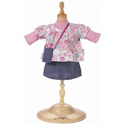 Corolle Doll Fashions 14-Inch Floral Tunic and Skirt Set