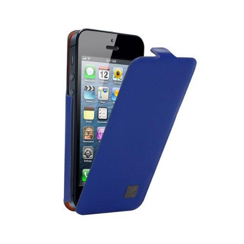 kenzo-leather-flip-case-metal-plate-k-blue-fur-apple-iphone-5