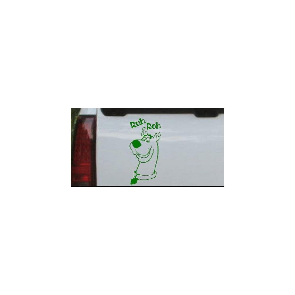 Scooby Doo Ruh Roh Cartoons Car Window Wall Laptop Decal Sticker    Dark Green 40in X 19.0in