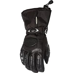 Cortech Cascade Men's Ski Snowmobile Gloves - Black/Black / 2X-Large