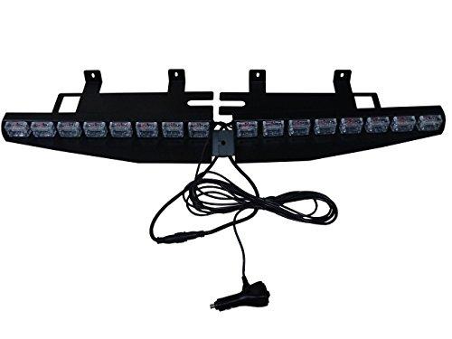 WEILONG Car 48 LED 48 W Lightbar Visor Light Emergency Warning Strobe Split Mount Deck Dash lamp (Blue White Multiple) (Police Blue White Lights compare prices)
