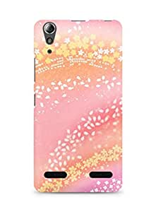 Amez designer printed 3d premium high quality back case cover for Lenovo A6000 (Pattern Pink)