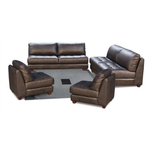 72 Inch Rectangle Zen Collection Armless All Leather