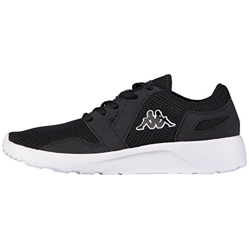 kappaclovis-scarpe-da-ginnastica-basse-unisex-adulto-nero-nero-1110-nero-bianco-43