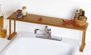 Lipper International Bamboo Over-The-Sink Shelf
