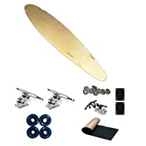 "Carve-One Longboard Natural Pintail Gullwing Sidewinder Longboard 40"" Complete Blank"