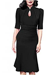 Viwenni Womens Sexy 3/4 Sleeve Bodyc…