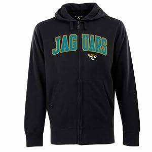Jacksonville Jaguars Applique Full Zip Hooded Sweatshirt (Team Color) by Antigua